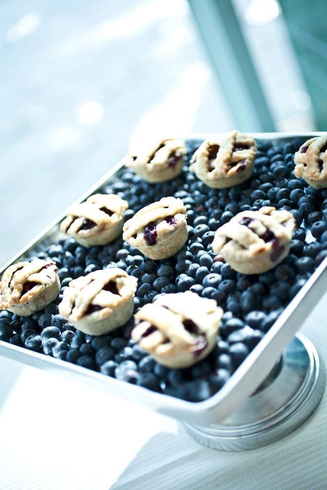 Blueberry Pies - Butlered Desserts
