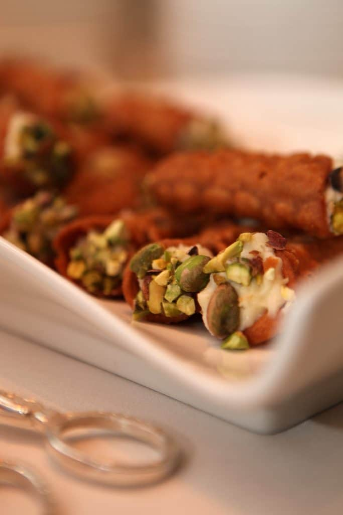 Canolis dipped in Pistachios 683x1024 - Butlered Desserts