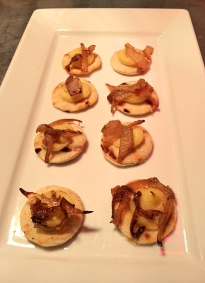 Carmalized Onion Pizzas - Butlered Hors d'oeuvres