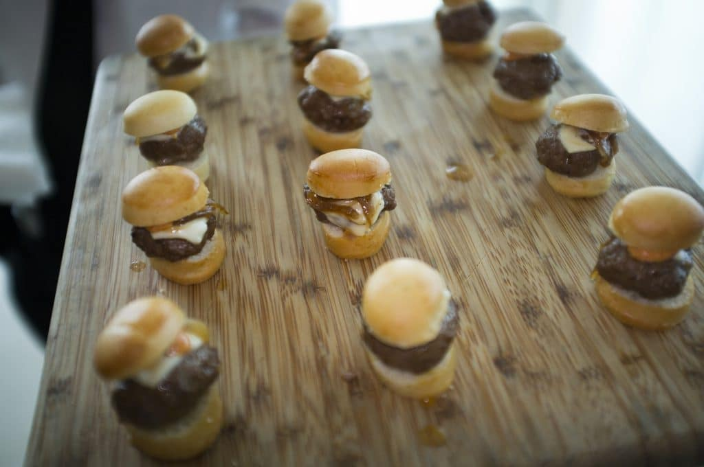 Cheeseburgers with Carmelized Onions and Special Sauce 1024x680 - Butlered Hors d'oeuvres