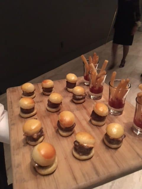 Cheeseburgers with Fry Shooters rotated - Butlered Hors d'oeuvres