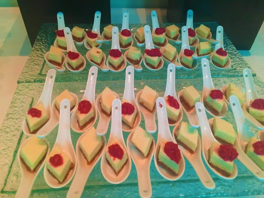Cheesecake Spoons Cherry 1024x768 - Butlered Desserts
