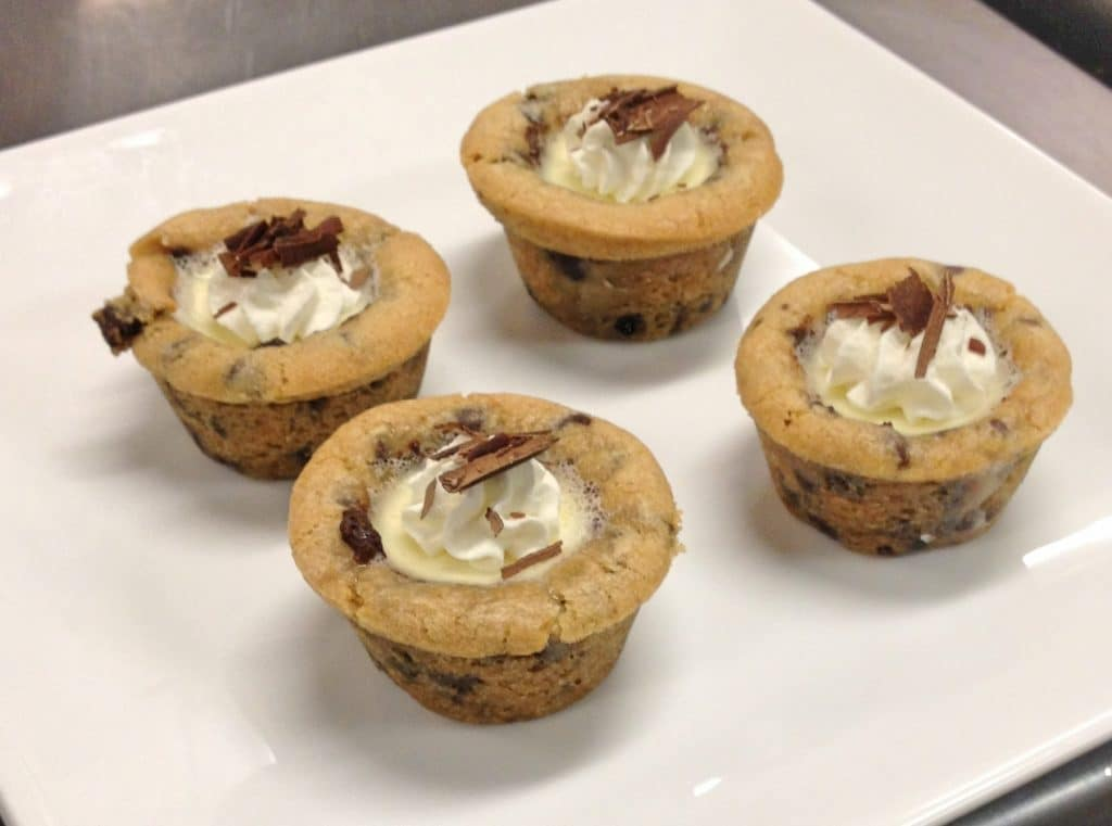 Chocolate Chip Cookie Cups with Milk Panacotta 1024x761 - Butlered Desserts