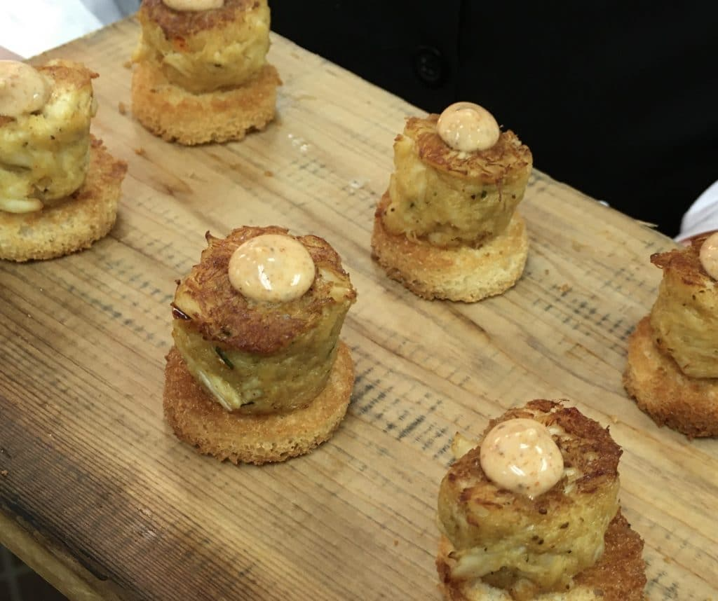 Crab Cakes on Brioche 1024x858 - Butlered Hors d'oeuvres