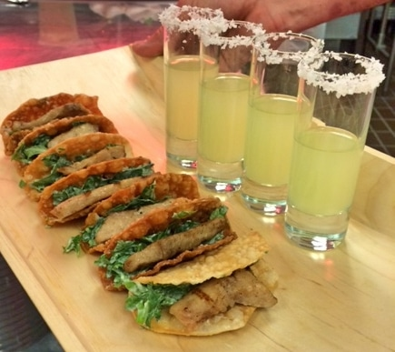 Fish Tacos with Margarita Shooters - Butlered Hors d'oeuvres