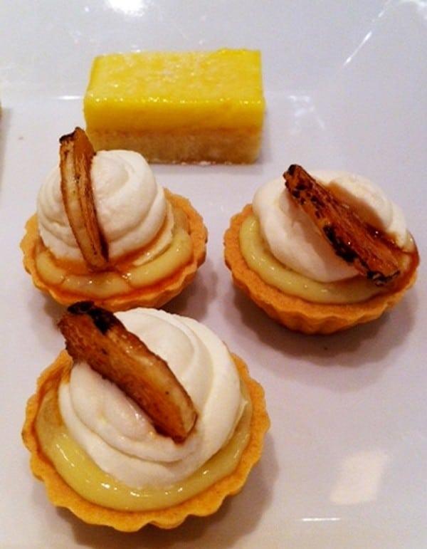 Lemon Squares banana cream pirees - Butlered Desserts
