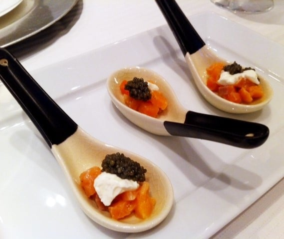 Salmon with Sour Cream   Caviar - Butlered Hors d'oeuvres