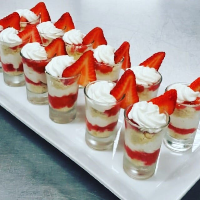 Strawberry Shortcake shooters - Butlered Desserts